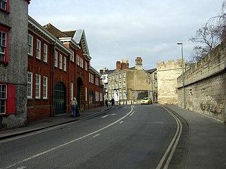 Longwall Street - View north along Longwall Street.