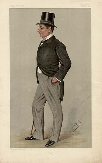 "Charles Boyle, 10th Earl of Cork - ""Sol"" Viscount Dungarvan as caricatured by Spy (Leslie Ward) in Vanity Fair, October 1897"