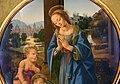 Lorenzo di credi, madonna e san giovannino adoranti il bambino, 1480 ca. 02.jpg