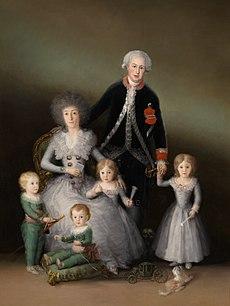 Los Duques de Osuna y sus hijos, 1788.