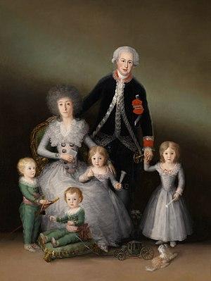 Pedro Téllez-Girón, 9th Duke of Osuna - Image: Los duques de Osuna y sus hijos