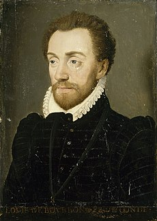 Louis, Prince of Condé (1530–1569) French general, Huguenot leader and founder of the House of Bourbon-Condé