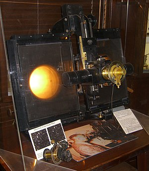 Blink comparator - This blink comparator at Lowell Observatory was used in the discovery of Pluto.