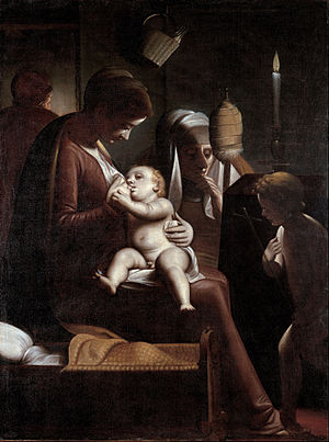 Luca Cambiasi - Image: Luca Cambiaso Madonna of the Candle Google Art Project