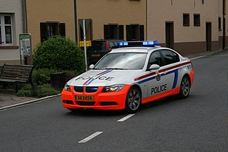 Grand Ducal Police - Grand Ducal Police vehicle in Stolzembourg