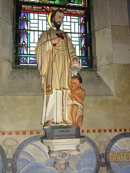 Mécrin (Meuse) église Saint-Evre statue