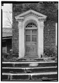 MAIN ENTRANCE, EAST (FRONT) ELEVATION - Dorsey House, 113 Cherry Avenue, West Brownsville, Washington County, PA HABS PA,63-BROVW.V,1-2.tif