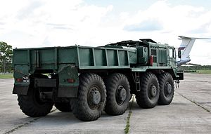 MAZ-537 - ballast tractor at the Migalovo Air Force base in Tver Oblast