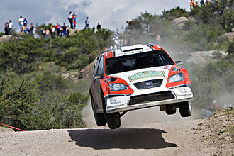 Rally Argentina - Federico Villagra during the 2008 Rally Argentina.