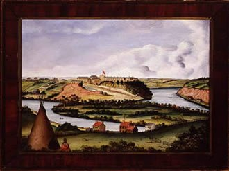 Pike Island - Fort Snelling and Pike Island, 1850