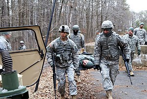 Fort George G. Meade - Image: MI soldiers rehearse first aid procedures 140314 A FE031 553