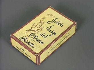 Soap - Box for Amigo del Obrero (Worker's Friend) soap from the 20th century, part of the Museo del Objeto del Objeto collection
