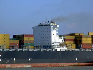 MSC Chicago p9, leaving Port of Rotterdam, Holland 08-Mar-2007.jpg
