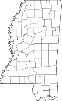Location of Piney Woods, Mississippi