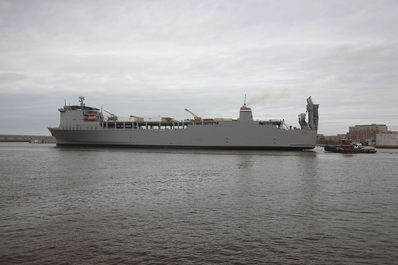 MV Cape Ray (T-AKR-9679) at Norfolk VA in 2014