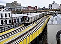 M train service resumes on the Myrtle Viaduct (41762349232).jpg