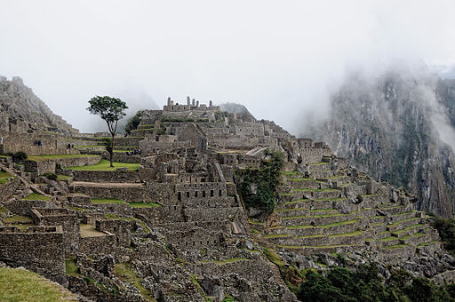 Machu Picchu as the mist's rise at dawn