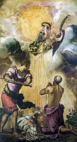 """Martyrdom of St. Paul"", Tintoretto Madonna dell'Orto (Venice) - Choir - The beheading of St. Paul.jpg"