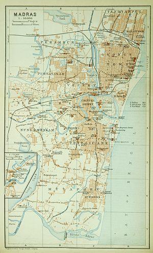Madras (Baedeker, 1914)
