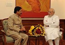 Maharashtra Governor Chennamaneni Vidyasagar Rao meets PM Modi.jpg