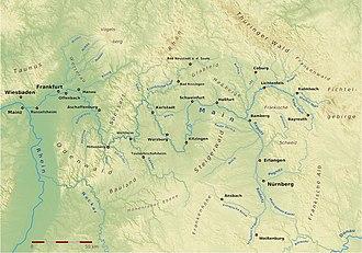 Main (river) - Image: Main Karte 160710