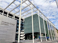 Main Entrance and Sign, Imperial College London, Exhibition Road in spring.jpg