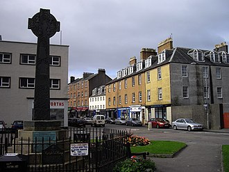 Campbeltown - Main Street and Campbeltown Cross