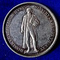 Mainz, Germany, Silver Medal 1840, Gutenberg Printing Press 400th Anniversary, obverse.jpg
