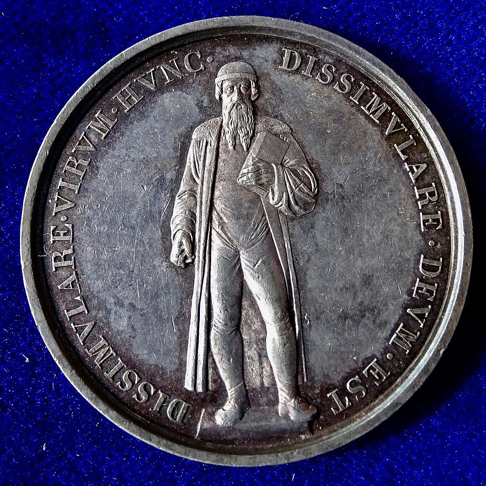 Mainz, Germany, Silver Medal 1840, Gutenberg Printing Press 400th Anniversary, obverse