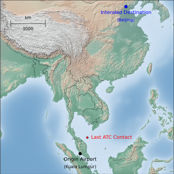 Link to Wikipedia article at: http://upload.wikimedia.org/wikipedia/commons/thumb/f/f7/Malaysia_Airlines_MH370_path_labelled.png/601px-Malaysia_Airlines_MH370_path_labelled.png