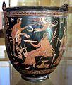 Maniera del pittore di dario, situla con pan, eros androgino e altri, 340-330 ac ca.jpg