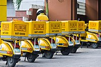 黄色出租车比萨饼