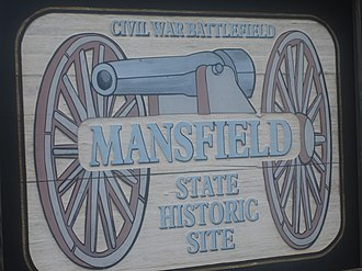 Mansfield State Historic Site - The Mansfield State Historic Site, four miles south of Mansfield, commemorates the 1864 Battle of Mansfield.