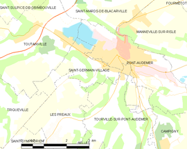 Mapa obce Saint-Germain-Village