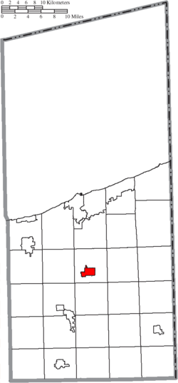 Location of Jefferson in Ashtabula County