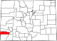 Map of Colorado highlighting Dolores County.svg