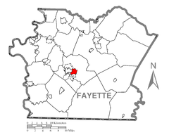 Map of East Uniontown, Fayette County, Pennsylvania Highlighted.png