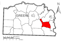 Location of Greene Township in Greene County