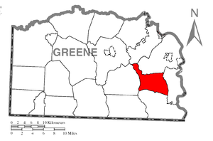 Greene Township, Greene County, Pennsylvania - Image: Map of Greene Township, Greene County, Pennsylvania Highlighted