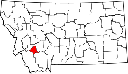 Map of Montana highlighting Silver Bow County.svg