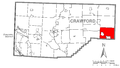 Map of Oil Creek Township, Crawford County, Pennsylvania Highlighted.png