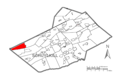 Map of Schuylkill County, Pennsylvania Highlighting Upper Mahantongo Township.PNG