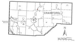 Map of Venango, Crawford County, Pennsylvania Highlighted.png
