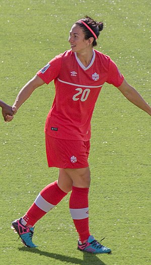 Marie-Ève Nault - Image: Marie Ève Nault cropped FIFA Women's World Cup Canada 2015