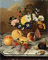 Marija Auersperg Attems - Tihožitje s cvetjem in sadjem.jpg