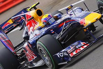 2010 British Grand Prix - Mark Webber was fractionally out-qualified by teammate Sebastian Vettel and lined up second.
