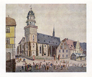 Martinskirche, Kassel - The Martinskirche in 1820 Painting by Ludwig Grimm