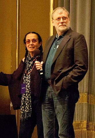 Mary Ellen Mark - Mark with husband Martin Bell at the 2011 Look 3 photography conference