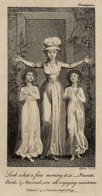 Mary Wollstonecraft - Frontispiece to the 1791 edition of Original Stories from Real Life engraved by William Blake