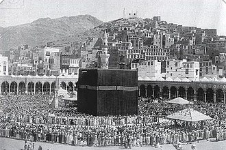 Abd al-Malik ibn Marwan - The Ka'aba in Mecca was the headquarters of Ibn al-Zubayr where he was besieged and defeated by Abd al-Malik's forces led by al-Hajjaj ibn Yusuf in 692